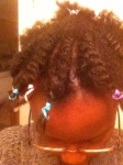 Here are my front flat twists