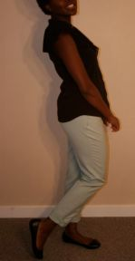 Mint pants - $15; Black Top - $17