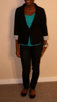 Black Caridgan - $20; Turquoise Sleeveless - $18