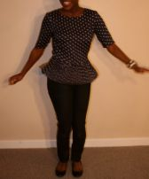 Skirted Polka Dot Top - $20