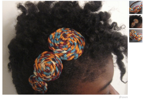 This is a fun, colourful hair piece that is more casual.