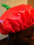 From Roomie-T!!! Love this strawberry shower cap :)