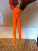 This carrot is just funny.