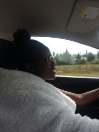 My drive home with the SOFTEST blanket from costco