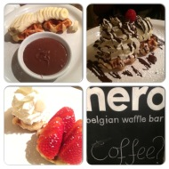 Waffles at Nero after Malaysian!